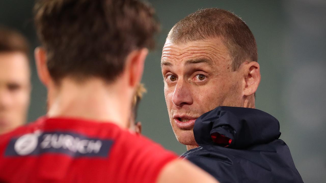 Melbourne CEO Gary Pert has backed coach Simon Goodwin. (Photo by Matt Turner/AFL Photos)