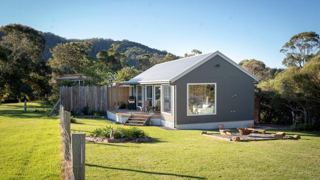 7/20Infinity on Willowvale, Gerringong NSW Quite literally built for couples, this South Coast boutique stay has a spa bath for two, a private fire pit and is close to the Crooked River Winery.