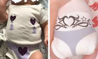 Hilarious X-rated baby onesie goes viral