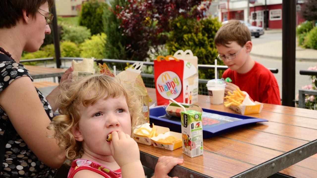 Lunch in McDonald's
