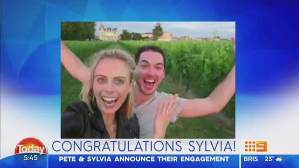 Sylvia Jeffreys is engaged
