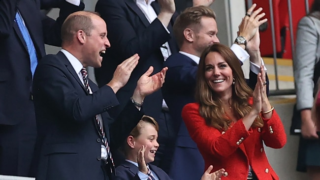 Prince William, Kate Middleton and Prince George at the Wembley Stadium. Picture: Getty Images