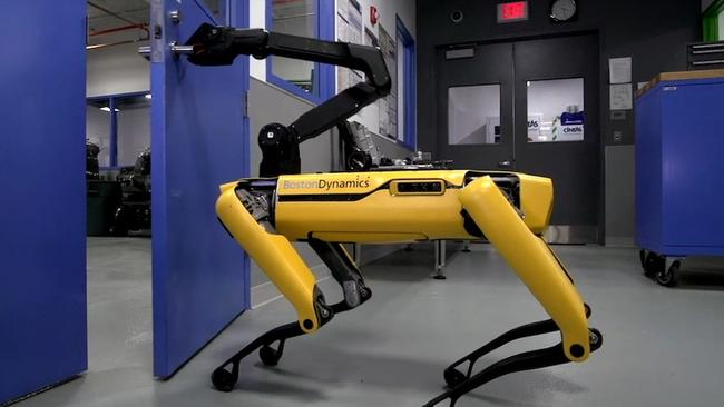 Boston Dynamics' door-opening SpotMini was the No. 1 video on YouTube on Tuesday.