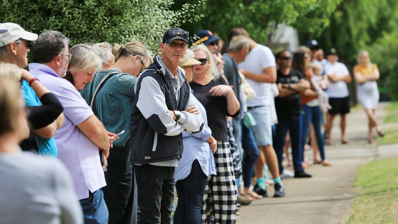 Big crowds have been turning out to Geelong auctions every weekend. Picture: Alan Barber