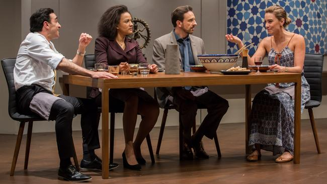 Playwright Ayad Akhtar has got the tone just right and this excellent cast does him justice.