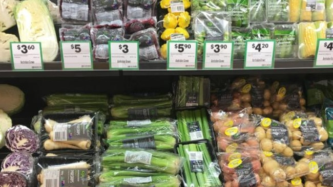 Supermarkets have been criticised for using too much plastic, despite bans on single-use bags in several states. Picture: Supplied