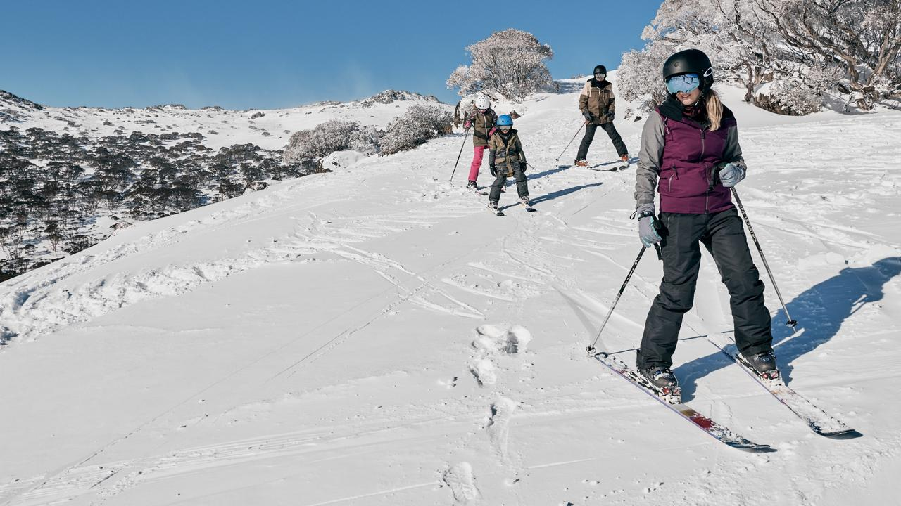 Charlotte Pass Ski Resort in the Snowy Mountains is perfect for families. Picture: Destination NSW