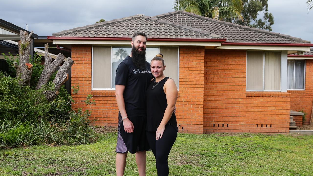 The couple built a granny flat at the back of their parents' home.