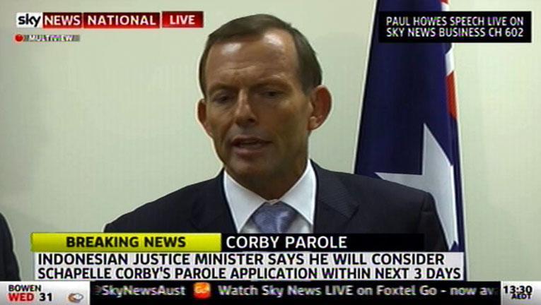 Tony Abbott comments on Schapelle Corby parole