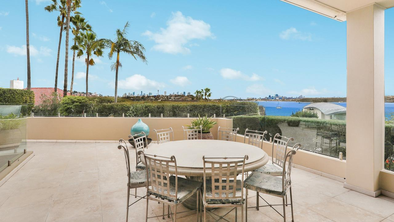 Multiple outdoor entertainment areas.