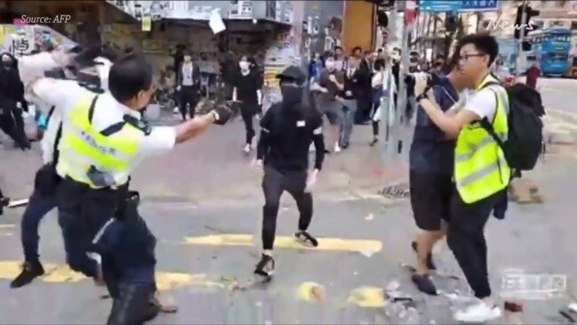 Hong Kong protester shot by police, livestreamed on Facebook