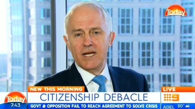 "Karl Stefanovic and Malcolm Turnbull clash over PM's ""waffling"""