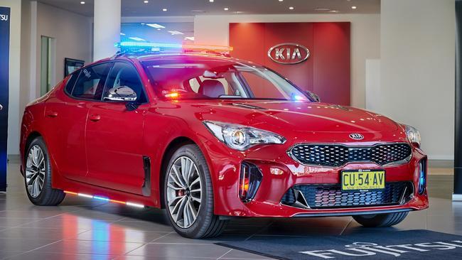 Kia Stinger: New improved police car under development