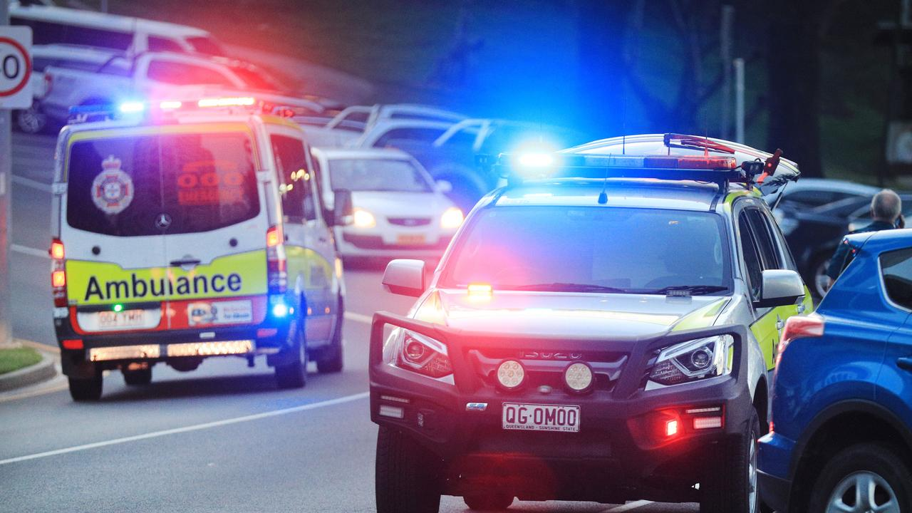 Paramedics transported a boy to Gladstone Hospital in a serious condition after a pedestrian vs car incident at Gladstone.