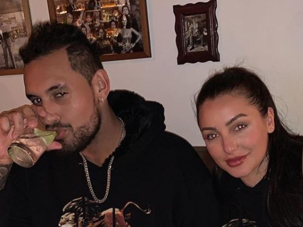 Nick Kyrgios with love interest Chiara Passari.