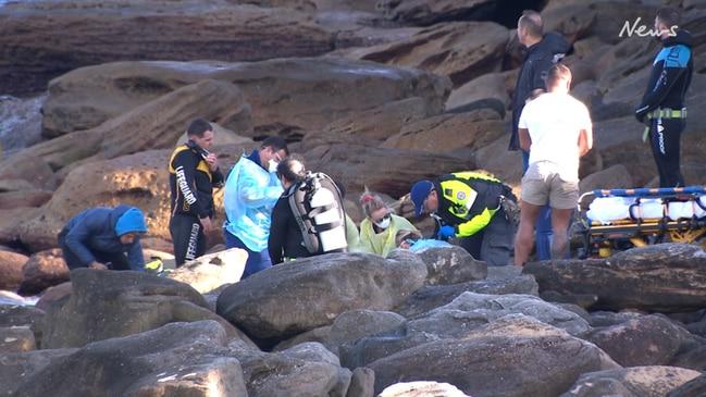 Video of desperate rescue attempt of female scuba diver