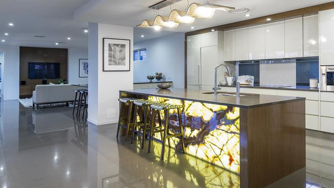 The kitchen in the home at 6256 Spyglass Hill, Hope Island.