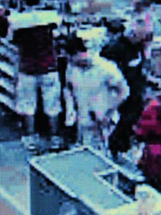 Michael Atkins buys the mattock and gaffer tape at Bunnings, Taren Point. Picture: NSW Police.