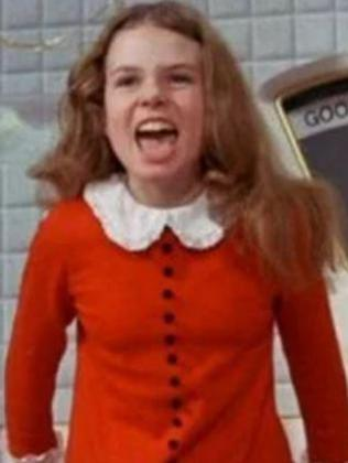 Julie Dawn Cole played Veruca Salt in Willy Wonka and the Chocolate Factory. Picture: Supplied