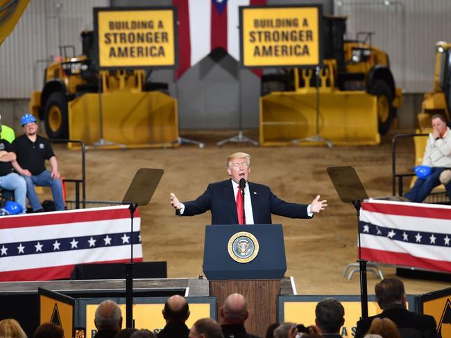 US President Donald Trump in Ohio.  Picture:  AFP