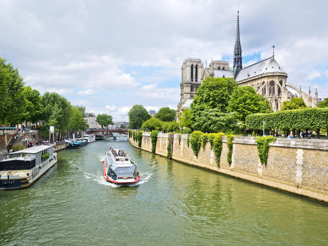 Notre Dame and Seine River in Paris