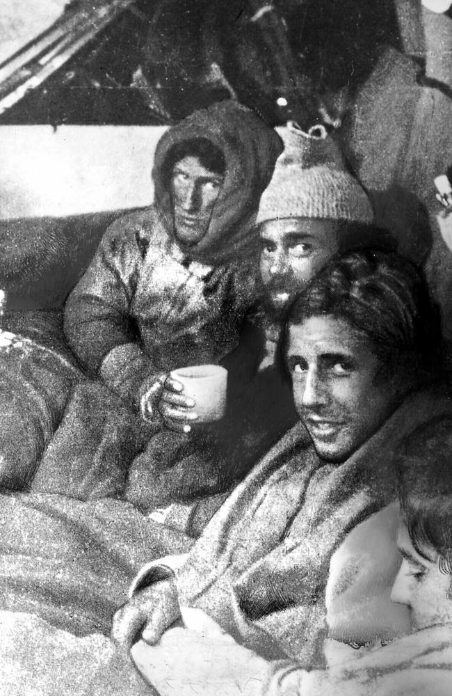 Survivors after their eventual rescue.