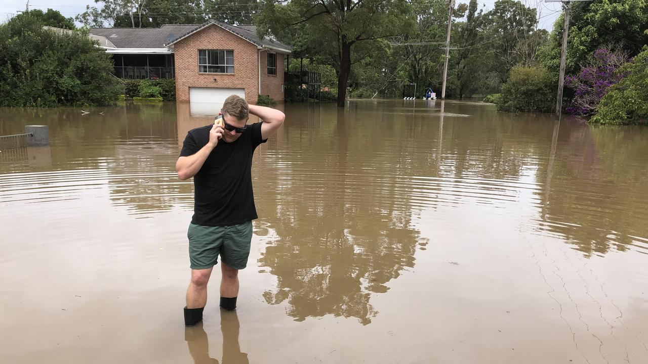 The groom is in Taree and cannot get to the farmhouse due to floodwaters.