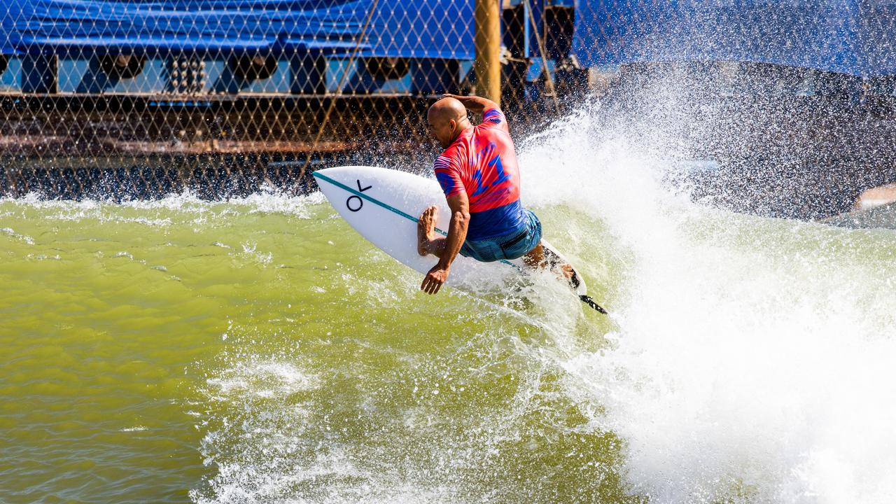 Kelly Slater has been invited to check out the Sunshine Coast site where a surf ranch bearing his name is proposed to be built. Picture: Cait Miers/WSL via Getty Images