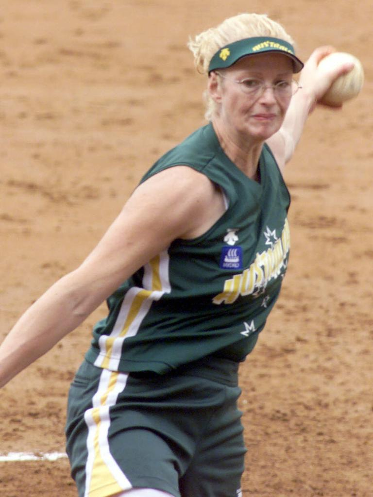 Softball great and hall of famer Brooke Wilkins.