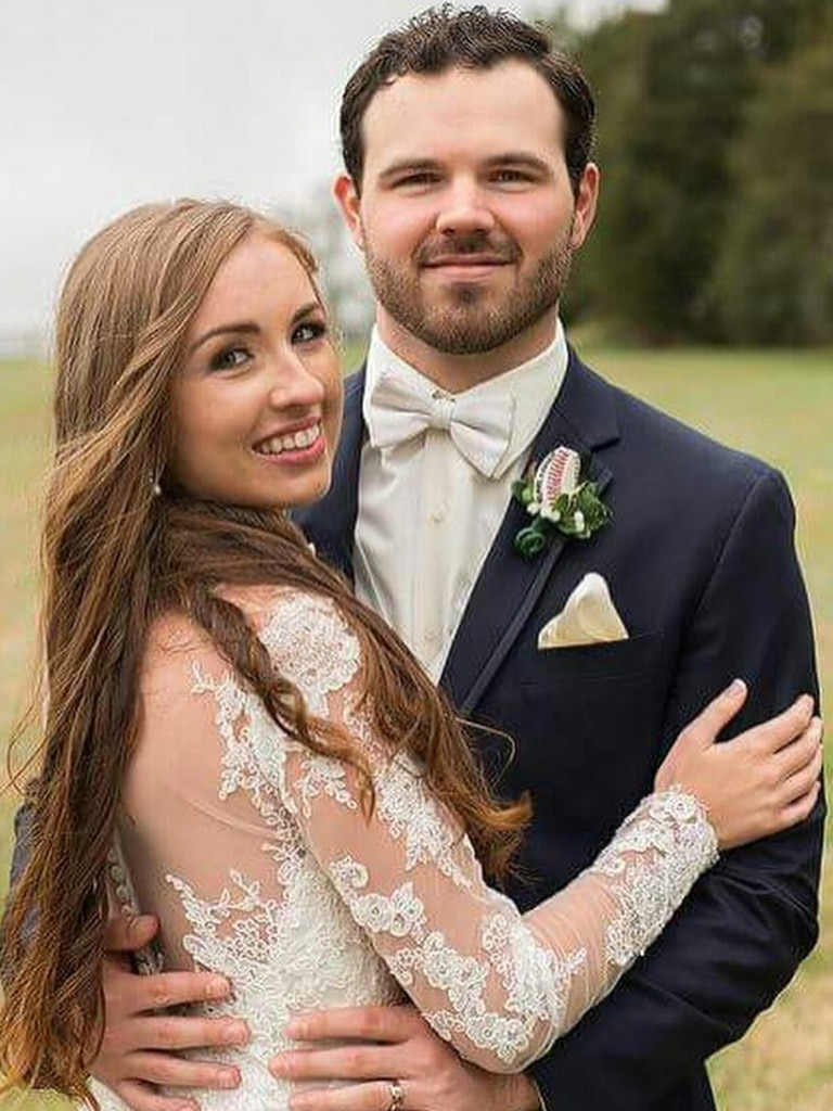 Blake and Emily on their wedding day.