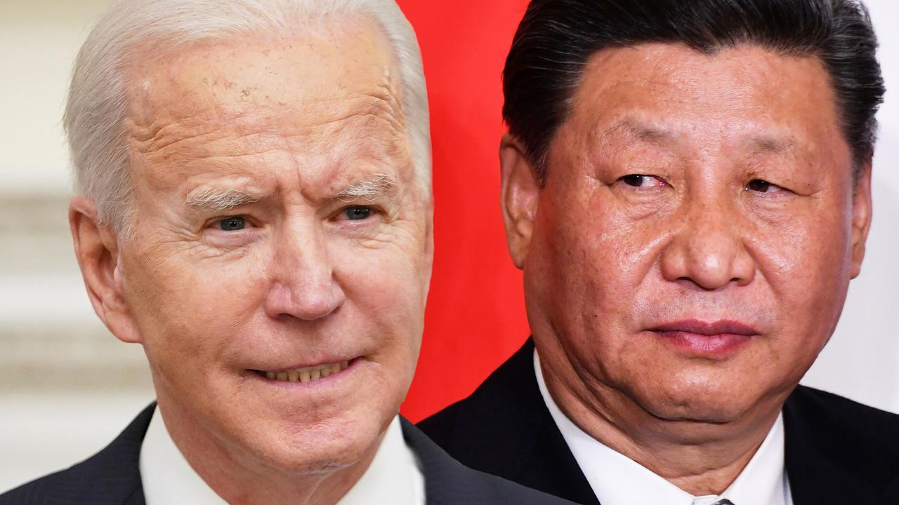 US President Joe Biden and Chinese President Xi Jinping. China is well aware of the strengths of the US military. Picture: Alberto Pizzoli/AFP