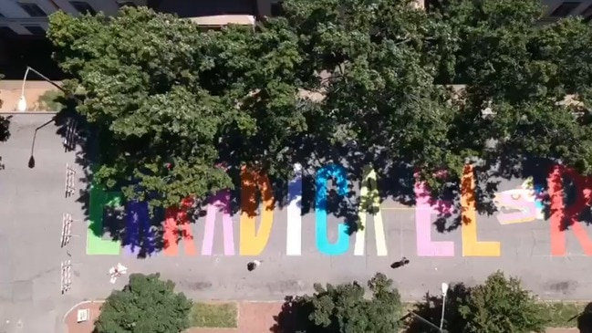 Latino Artists Paint 'Erradica el Racismo' Mural in Raleigh, North Carolina