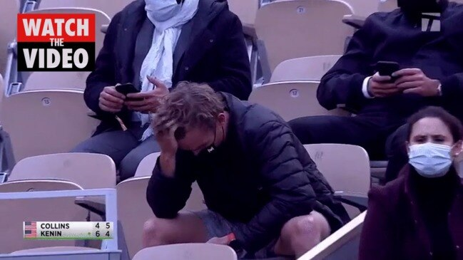 Moment tennis star boots boyfriend from stands at French Open
