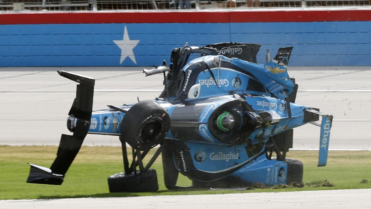 IndyCars aren't supposed to look like this.