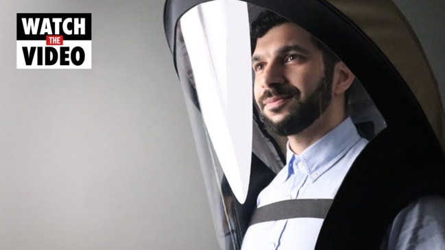 Inventors design high-tech helmets for COVID protection