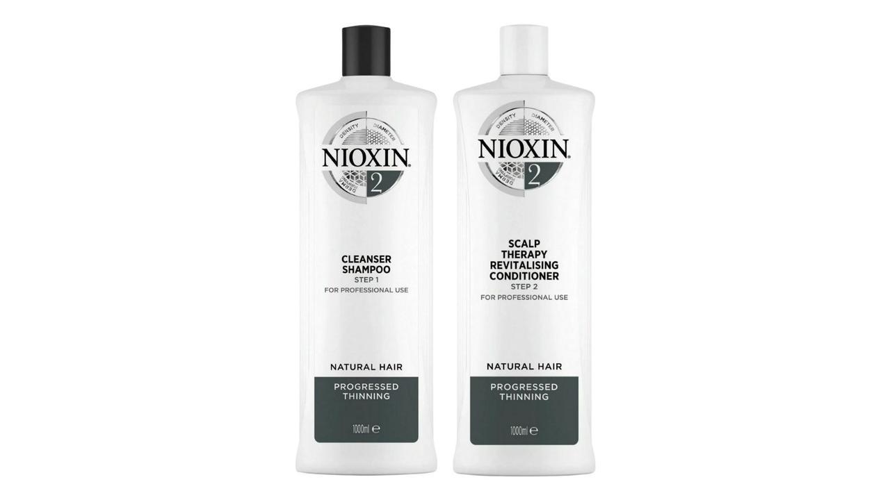 Nioxin System 2 Shampoo and Conditioner Treatment. Image: Nioxin.