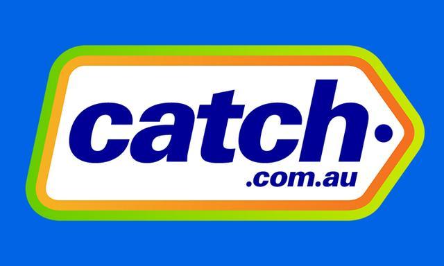 Catch logo on blue background Black Friday sales