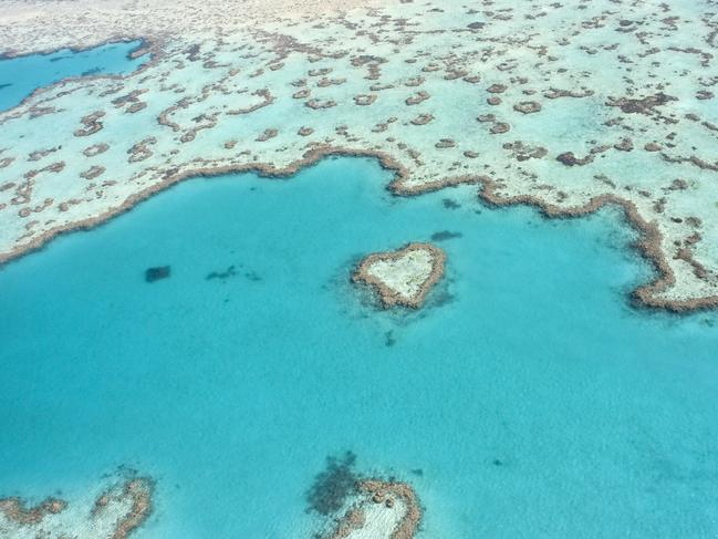 GO STRAIGHT TO THE HEART Distance makes the heart grow fonder but luckily you can still see the Whitsundays' heart beating in Hardy Reef with an Express Scenic Aeroplane Flight over Heart Reef and Whitehaven Beach, direct from Airlie Beach.