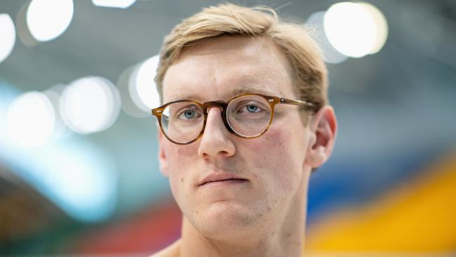 SYDNEY, AUSTRALIA - MAY 13: Australian swimmer Mack Horton poses during an Australian 2020 Tokyo Olympic Games swim team portrait session at Sydney Olympic Park Aquatic Centre on May 13, 2021 in Sydney, Australia. (Photo by Cameron Spencer/Getty Images)