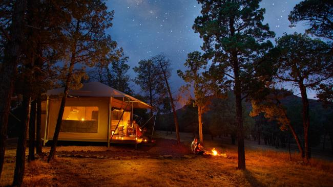 Ikara Safari Camp is an incredible spot to view the Wilpena Pound stars.  Picture: Adam Bruzzone