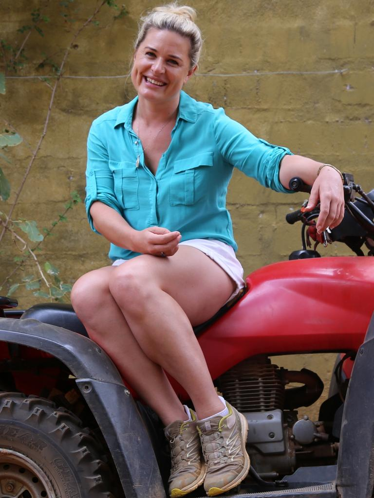 Psychologist Kate Baecher on the set of I'm A Celebrity … Get Me Out Of Here!