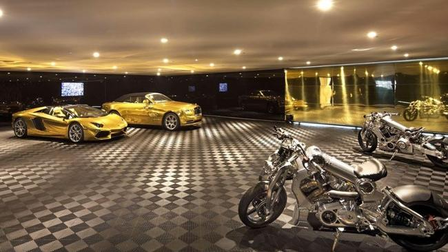 The museum garage comes with two cars. Picture: Jim Bartsch/Opus