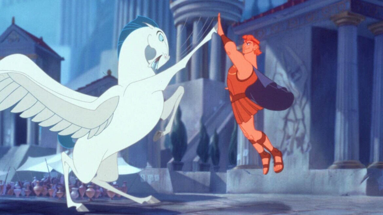 "Scene from 1997 animated film ""Hercules: The Movie""."