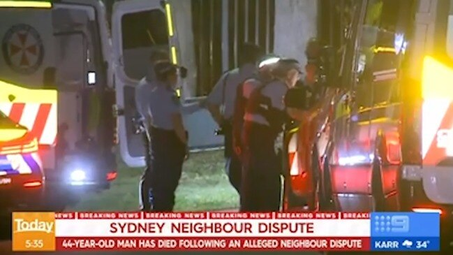 Sydney man dies in neighbourhood dispute (The Today Show)