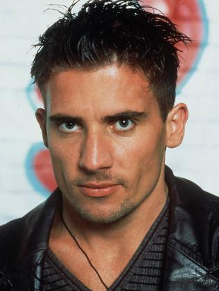 Dominic Purcell in 1997 as Granger in the TV program Raw FM. Picture: Supplied