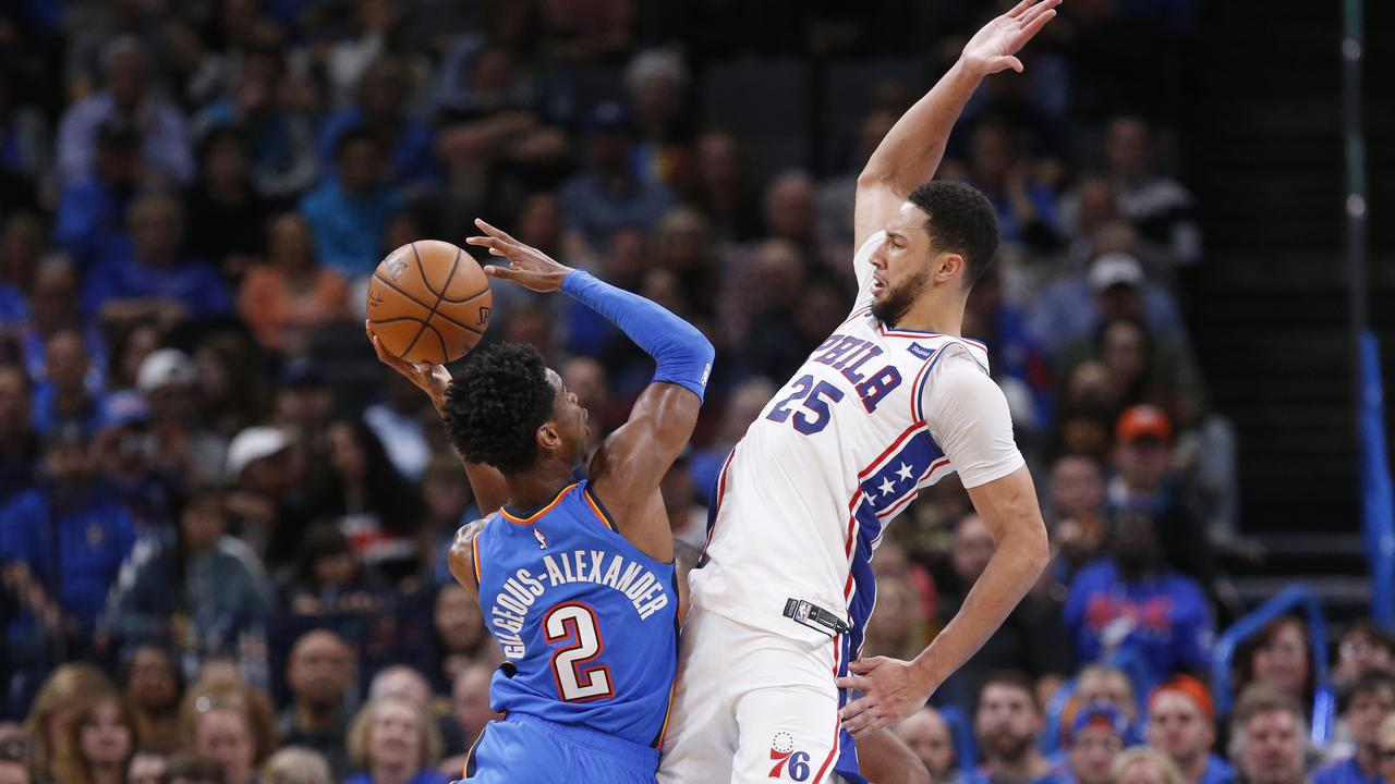 Philadelphia 76ers fall to Thunder in overtime to lose fifth loss in seven games