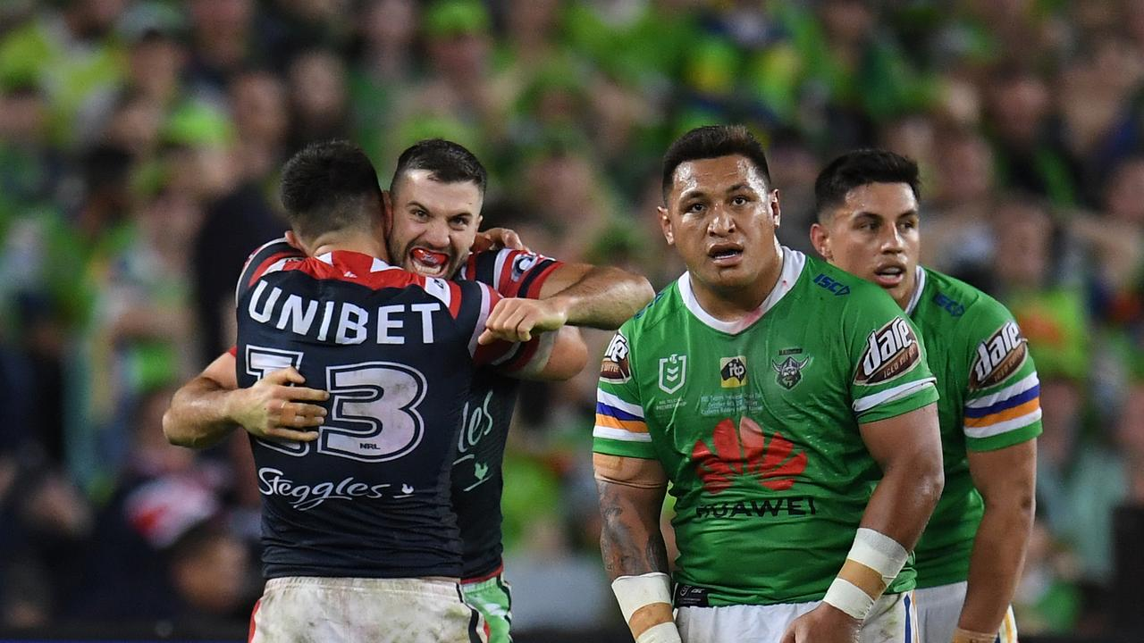 The Roosters left the Raiders feeling numb.