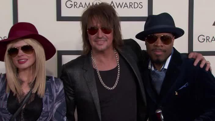 Richi Sambora and Orianthi on the Grammys red carpet