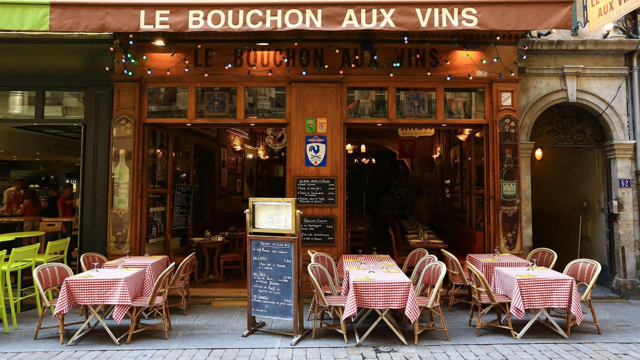 France Rhone Lyon historical site listed as World Heritage by UNESCO Cordeliers district Merciere street Le Bouchon aux Vins compulsory mentionaLe Bouchon aux Vins