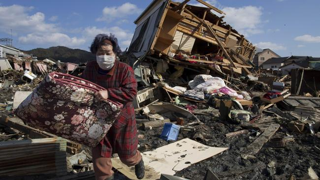 The aftermath of the 2011 Japan earthquake and tsunami. Picture: Getty Images